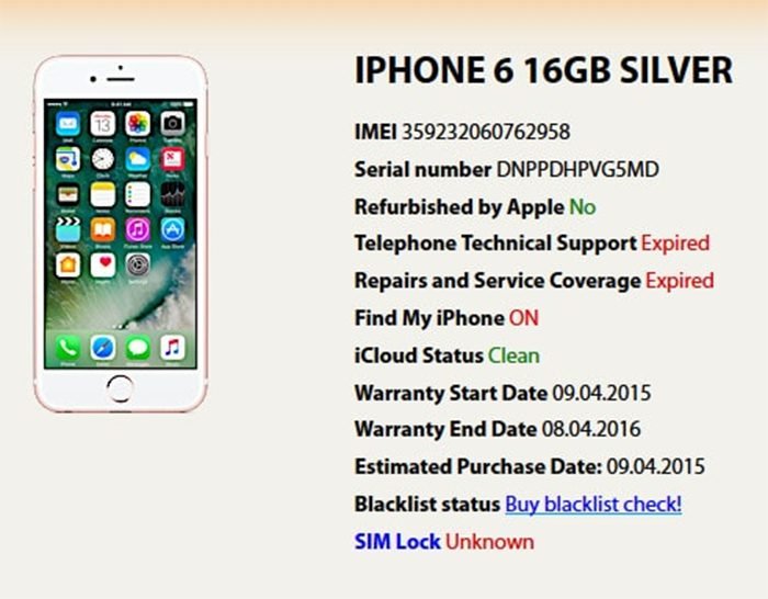 Check imei iPhone để kiểm tra chiếc iPhone