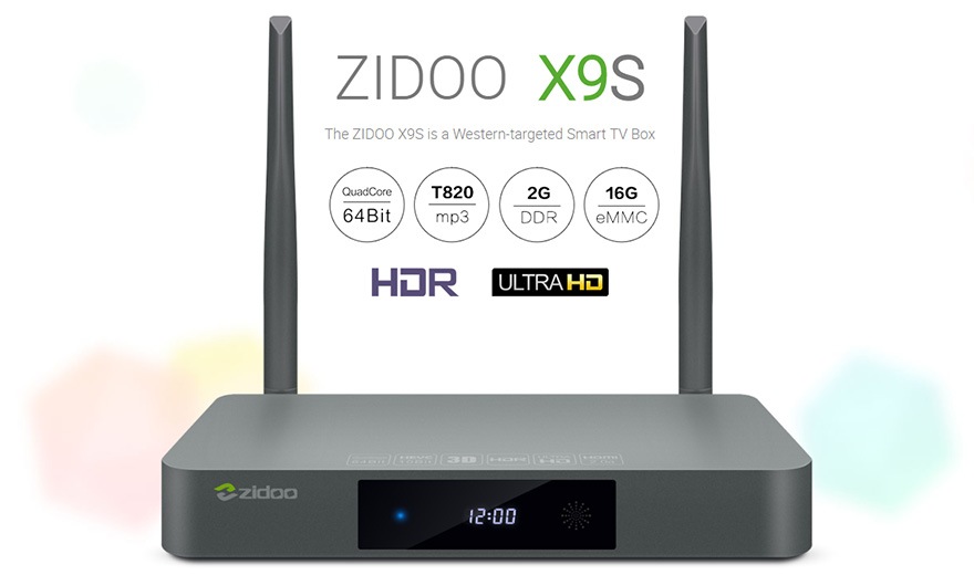 ZIDOO Z9S Smart TV Box Android 7.1 4K Media Player NAS System